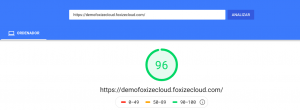 Test de Google Pagespeed Insight
