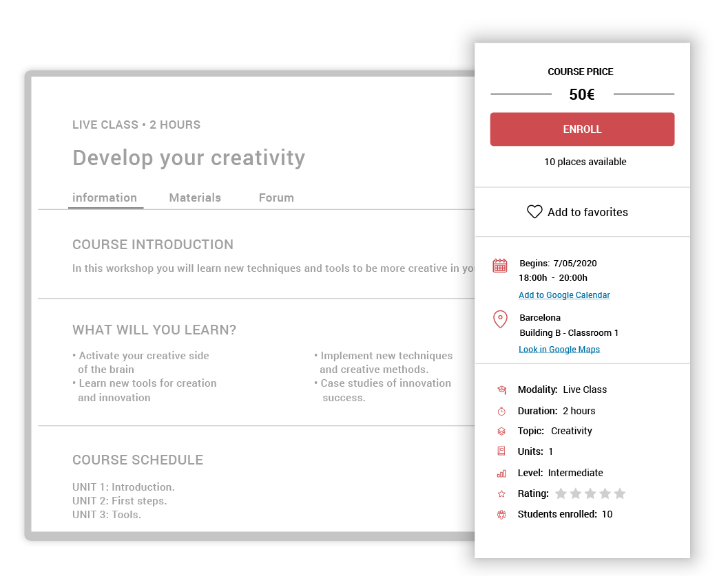 Create live-classes on your LMS platform